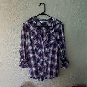 Long Sleeved Plaid Shirt